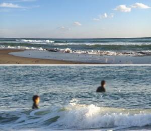 サメによる事故が起きた遠州灘(表浜)の写真。クリックで拡大