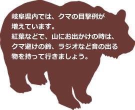 岐阜県のツキノワグマ