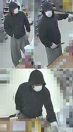 サークルKコンビニ強盗犯の防犯カメラ画像