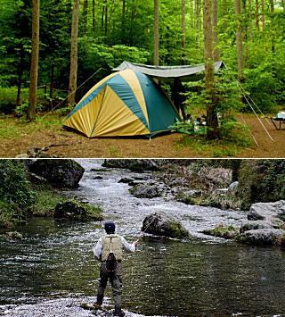 キャンプや渓流つり