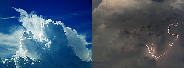 積乱雲の急な発達はカミナリの予兆