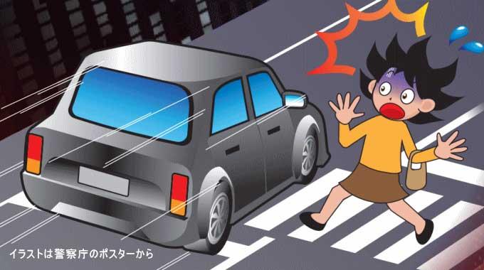 横断歩行者妨害