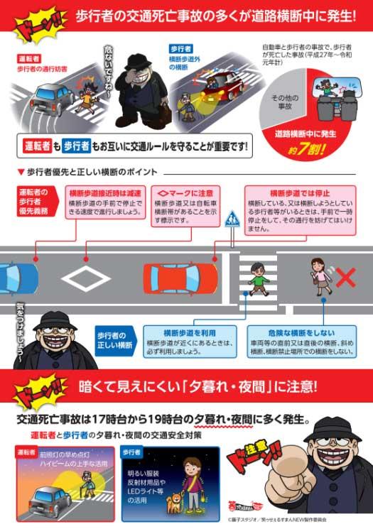 横断歩道での事故防止