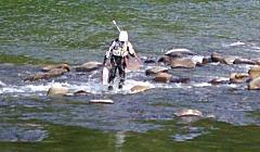 アユ釣り中の事故